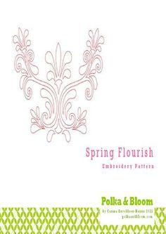 Spring Flourish Embroidery Pattern