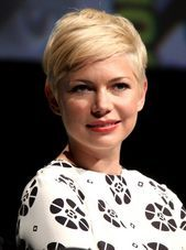 Cute Short Haircut for 2014: Blonde Pixie Cut with Balayage  Michelle Williams Hairstyle
