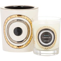Emaux de Longwy Tubéreuse Géo Candle (36.700 HUF) ❤ liked on Polyvore featuring home, home decor, candles & candleholders, white, scented candles, white candles, handmade home decor, wick candles and parisian home decor