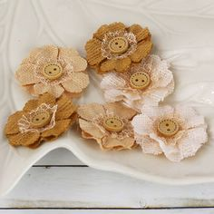 1.5 fabric flowers  Primmers Collection  Peanut by isakayboutique, $4.99