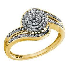 10KT Yellow Gold 0.30CTW DIAMOND MICRO PAVE EARRING