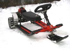 Снегокат Аргомак с мотором от мотоблока. Снегокат с мотором.