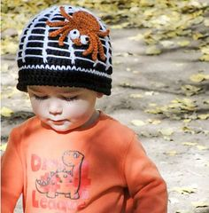 Along Came a Spider Beanie, de Liz McQueen. http://www.ravelry.com/patterns/library/along-came-a-spider-beanie