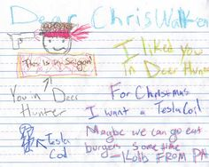 """While Artist-in-Residence at Cornell's arts dorm, I was expected to come up with stimulating art-related programs for the students to participate in. """"Letters to Walken"""" allowed them the chance to write their yearly Christmas letter to Christopher Walken."""
