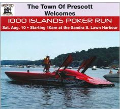 """The Town Of Prescott Welcomes """"1000 Islands Poker Run"""" Saturday August 10th starting at 10AM at The Sandra S. Lawn Harbour Advance VIP tickets ($10) available at the Prescott Canadian Tire and O'Reilly's Independent!!   Fun for all ages with live music, buskers, BIA street sale and Shakespeare Festival performs at 2PM! FREE family fun zone for the kids including SIX BOUNCY CASTLES, PETTING ZOO and Canadian Tire Jumpstart GAMES & SPORTS! Tickets are $10.00 is advance and $15.00 at the door! Poker Run, Shakespeare Festival, Vip Tickets, Petting Zoo, Bouncy Castle, Canadian Tire, Local Events, Zoo Animals, Live Music"""