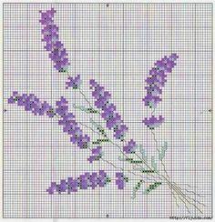 fiore lavanda punto a croce