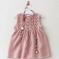 Kız Bebeklere Örgü Elbise Modelleri 108