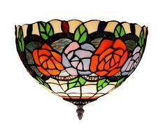 Plafones Estilo Tiffany ROSY. Iluminacion Beltran, tu tienda en internet en plafones Tiffany.