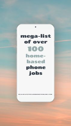 Check out this big list of over 100 home-based phone jobs!