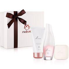 Presente Natura Luna - Desodorante Colônia Feminino 75ml + Desodorante Hidratante Corporal Perfumado 150ml + Sabonete em Barra 90g + Embalagem - 66246