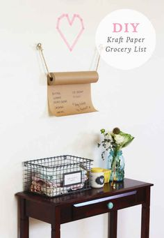 Create a roll-down grocery or to-do list.