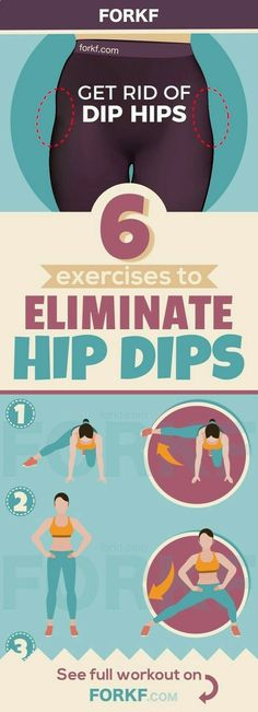 6 Moves To Fill Your Hips And Eliminate Hip Dips - Real Time - Diet, Exercise, Fitness, Finance You for Healthy articles ideas Fitness Workouts, Sport Fitness, At Home Workouts, Health Fitness, Health Diet, Dance Fitness, Fitness Equipment, Yoga Fitness, Dip Workout