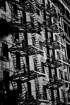vintage photos of new york | SoHo Fire escapes, New york | Guillaume Gaudet Photography