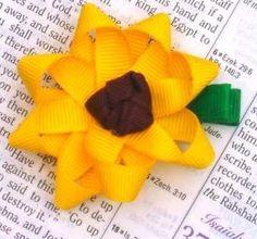 Sunflower Hair Clip girls-crafts