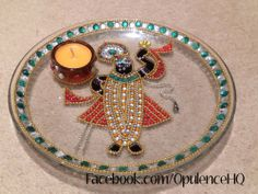 Beautiful Shrinathji plate / aarti thali handmade by Opulence. £15.00 OpulenceHQ@outlook.com