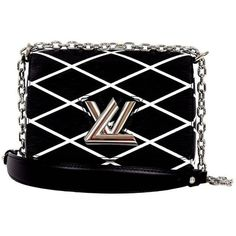 Pre-owned Louis Vuitton Black & White Epi Leather Twist Malletage... ($4,500) ❤ liked on Polyvore featuring bags, handbags, shoulder bags, handbags and purses, crossbody messenger bag, leather crossbody purse, leather crossbody, leather handbags and leather crossbody handbags