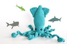 Super-cool!! =) Etsy Blog - Etsy Stalkers | Home: Interviews  #etsy #ocean #squid #amigurumi #crafts
