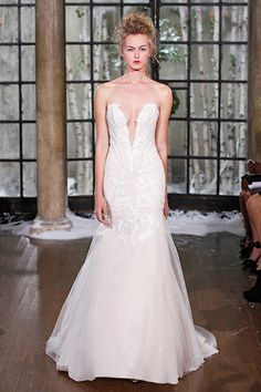 Gown by Ines Di Santo.Check out more gorgeous dresses in our wedding gown gallery ►