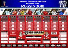 Jadwal Pertandingan Piala Dunia 2018 Fifa 21, Word Cup, Fifa World Cup, Peru, Brazil, Periodic Table, Instagram Posts, Graphics, Live