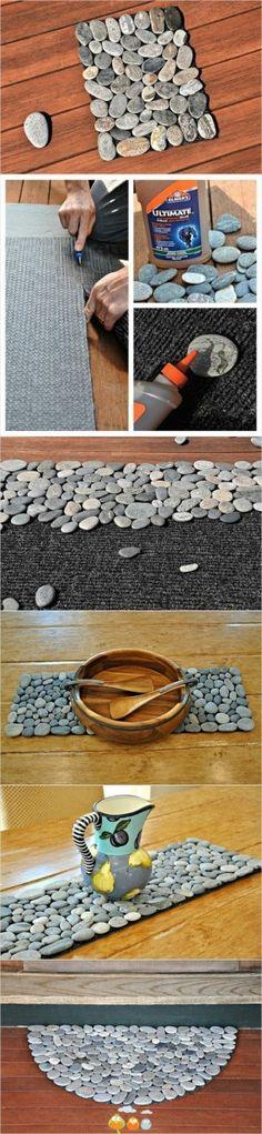 DIY stone mat tutorial