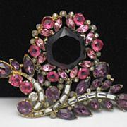 Magnificent Huge EISENBERG ORIGINAL Pink Purple Rhinestone Flower Brooch http://www.rubylane.com/shop/atouchofrosevintagejewels/ilist/,cs=Antique+%26+Vintage+Jewelry.html
