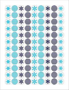 Christmas Snowflake Hershey Kisses Stickers #christmas #printable