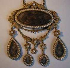 Victorian Hair Necklace
