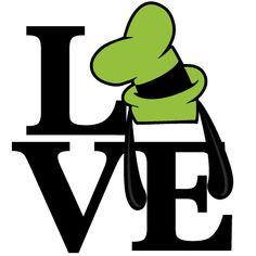 Love Goofy Ears Title SVG scrapbook cut file cute clipart files for silhouette cricut pazzles free svgs free svg cuts cute cut files