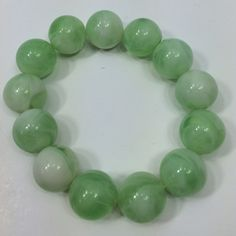 BUNDLE PRICE $4Green marbleized bead bracelet BUNDLE PRICE $4 Sorry no trades  Like what you see? Please check out all my listings and follow me! Instagram: dejavuapparel Pinterest: dejavuapparel  Twitter: _dejavuapparel Jewelry Bracelets