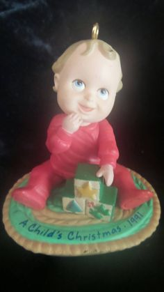 "1991 ""A Child's First Christmas"" Tree Ornament by Hallmark©"