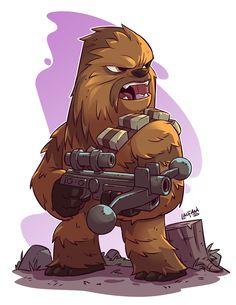 Chibi Chewie by Derek Laufman