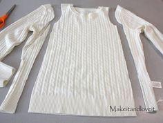 Re-purposing: Sweater to Girls Sweater Dress http://www.makeit-loveit.com/2009/11/re-purposing-sweater-to-sweater-dress.html
