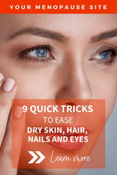Solutions for dry skin, hair, nails and eyes   Keep your skin supple, radiant and glowing by avoiding dry skin patches naturally! How to care for dry skin // Skincare in midlife // Skin health #dryskin #dryskinremedies #dryskincare #haircare #haircaretips #haircareroutine #haircareremedies #nailcare #nailcaretipsathome #eyecaretips #eyecareroutine Natural Remedies For Menopause, Beauty Over 40, Dry Skin Remedies, Hair Care Routine, Natural Skin Care, Skin Care Tips, Healthy Skin, Patches