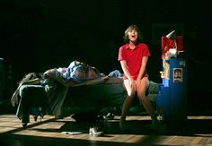 "Alexandra Socha, right, with Roberta Colindrez, on the bed, in a scene from ""Fun Home"" at the Public Theater.  ""Fun Home"" will open on Broadway shortly before the Tony deadline."
