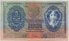 20 KRONEN 1907 (FRAUENPORTRAITS) Portrait, Vienna, Movie Posters, Ebay, Note, Coining, Historia, Austria, Money