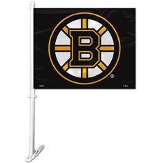 NHL Boston Bruins Logo on Window Car Flag by Fremont Die 06b3ed9c0
