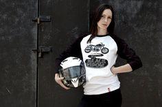 My Black Widow Tee-Unisex motorcycle Tee-Men's by 71Bandits