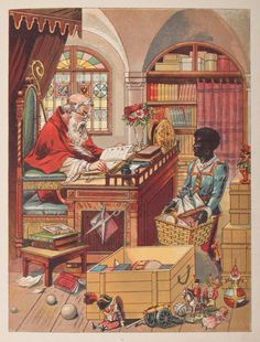 Saint Nicholas and Peter getting ready for their travels.
