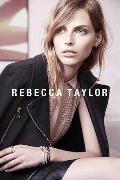 Rebecca Taylor Fall 2013 Ads Star Karlina Caune by Carlotta Manaigo