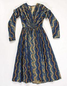 Dress, cotton, c. 1840, American. Metropolitan Museum of Art accession no. C.I.38.93