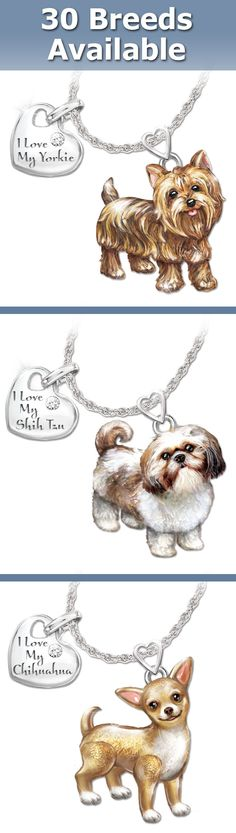 Choose your favorite breed (from 30 available) to celebrate your puppy pride with this dog lovers diamond pendant necklace. The legs and tail really move!