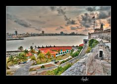 Cuba. View of Havana from Morro Castle. To order a Fine Art Reproduction, please, visit: http://fineartamerica.com/featured/view-of-havana-from-morro-castle-cuba-juan-carlos-ferro-duque.html