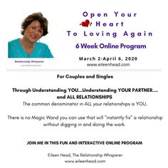 When we get hurt, feel unappreciated or unloved,  we shut our hearts down.  This program is for couples and singles to understand themselves through their personalities   #relationships #relationshipadvice #relationshipwhisperer #love #romance #personalities #enneagram