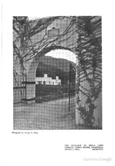 The Garden Apartments of California, Irving J Gill Architect, By E.M. Roorbach in The Architectural Record, 1913