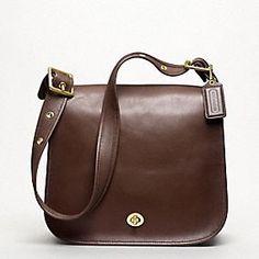 Coach Classic Leather Stewardess bag