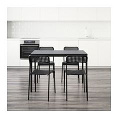 The melamine table top is moisture resistant, stain resistant and easy to keep clean.