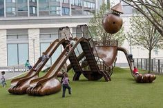playground slide by sculptor Tom Otterness, NYC