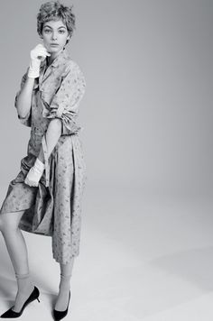 Midcentury Dresses, Made Modern - The little housedress is not as sweet as it looks. with FALKE socks