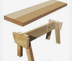 Simple DIY bench seat for your backyard.