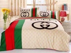gucci bedding galleryhip com the hippest galleries Gucci Bedding, Satin Bedding, Luxury Bedding, Crib Sets, Bed Sets, Duvet Sets, King Bedroom Sets, Master Bedroom Design, Master Bedrooms